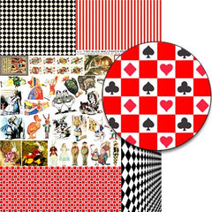 Tiny Alice Wallpaper Prints Collage Sheet