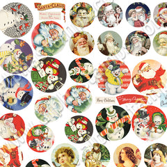 Tiny Round Christmas Labels Half Sheet