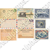 Tiny Vintage Letters & Postage Collage Sheet