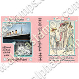 Titanic Era Songbook Collage Sheet
