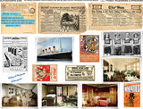 Titanic Telegrams & Ephemera Collage Sheet
