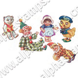 Toys from Santa's Workshop Collage Sheet
