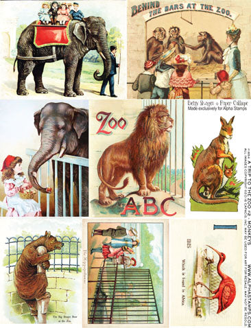 A Trip to the Zoo #2 - Monkeys Collage Sheet
