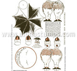 Tweedledum & Tweedledee Paper Dolls Collage Sheet