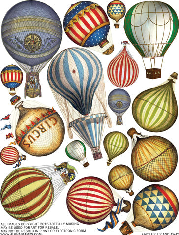 Up, Up and Away Collage Sheet
