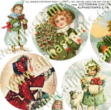 Victorian Children Ornaments Half Sheet