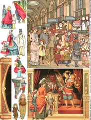 Victorian Shoppers Collage Sheet
