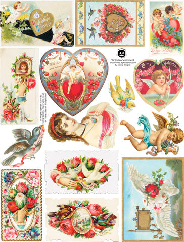 Victorian Sentiment Collage Sheet