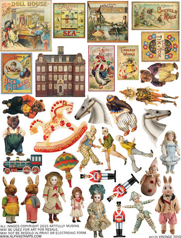 Vintage Toys Collage Sheet