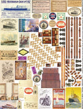 Vintage Travel Tags & Hardware Collage Sheet