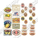 Vintage Beer & Soda Labels Collage Sheet