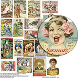 Vintage Drugstore Ads Collage Sheet