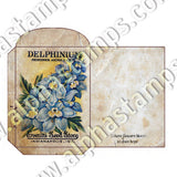 Vintage Flower Seed Packets Collage Sheet