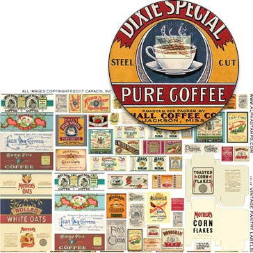 Vintage Pantry Labels Half Sheet
