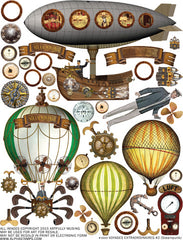 Voyages Extraordinaires #2 Collage Sheet