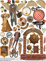 Voyages Extraordinaires #1 Collage Sheet