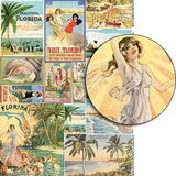 Vintage Florida Souvenirs Collage Sheet