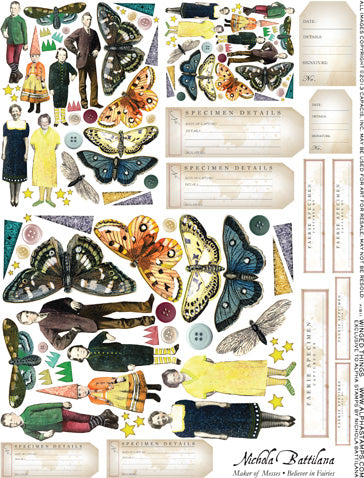 Winged Things Collage Sheet