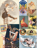 Winged Women Collage Sheet
