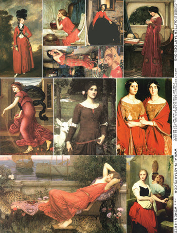 Women in Red Collage Sheet