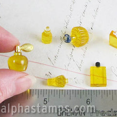 Yellow French Perfume Bottle Set of 6