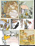 Aesop's Fables - Watercolors Collage Sheet