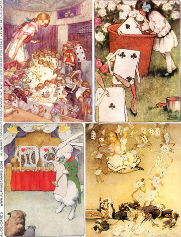 Alice & Cards Collage Sheet