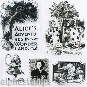 Mini Alice in Wonderland Clear Stamp Set