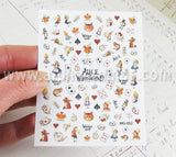 Tiny Color Alice in Wonderland Stickers