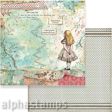 Alice Herself Scrapbook Paper
