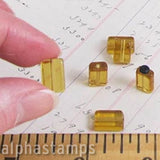 12x8mm Amber Glass Rectangular Beads