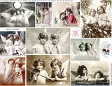 Angel Sisters Collage Sheet