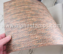 1:24 Antique Brick Wall Sheet*
