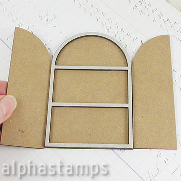 Arched Triptych with Overlay - 2.5x4
