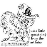 Art Fairy Rubber Stamp*