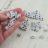 8mm Cube Beads - Astrology Symbols*