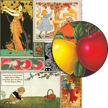 Autumn Apples Collage Sheet