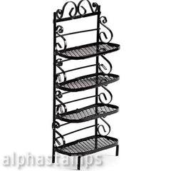 Black Wire Baker's Rack