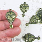 Bronze Hot Air Balloon Charm