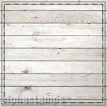 Bare Wood with Map Border Scrapbook Paper*