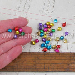 5mm Multi-Color Metal Jingle Bells