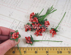 Fancy Red Holly Berries Mix*