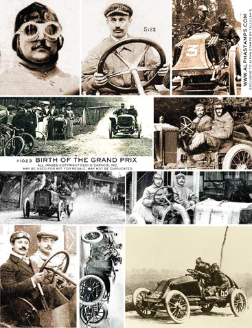 Birth of the Grand Prix Collage Sheet
