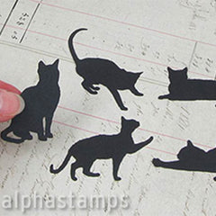 Die-Cut Black Cats
