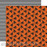 Bewitched Scrapbook Paper - Black Cats