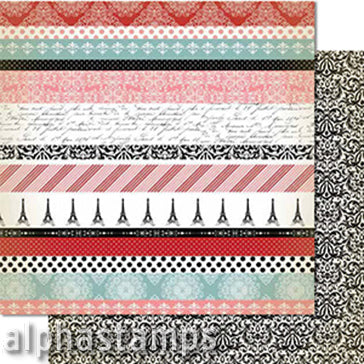 Amour Border Strips Scrapbook Paper*