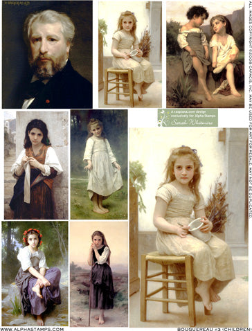 Bouguereau #3 (Children) Collage Sheet