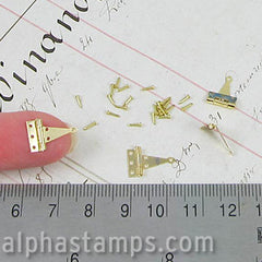 Miniature Brass T Hinges