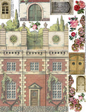 Brick, Arches & Climbing Roses Collage Sheet