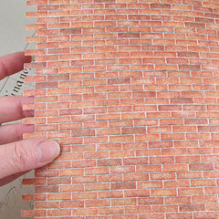 1:12 Brick Wall Sheet